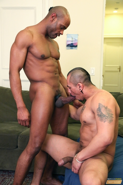 Marlone Starr & Romero Santos are colleagues who like to fuck...a lot.  In fact, anytime they go out on the town, they simply must get freaky.  While Marlone sits reading and relaxing on the living room couch, Romero comes in to observe if Marlone desires