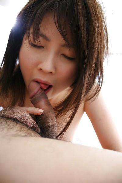 Chinese youthful Momo Akiyama has some cum-hole fingering and smoking satisfaction