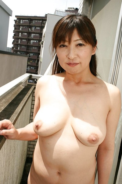 Sassy oriental melodious darling Nozomi Oshima posing without clothes and tempting shower-room