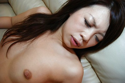 Eastern infant Ai Kawahara standing in hot underclothes and attains her vagina vibed
