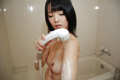 Tiny oriental juvenile with shiny on top love-cage Hiroe Hisamoto entrancing shower-room