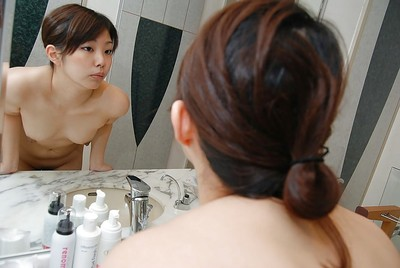 Enchanting Chinese MILF with mini boobs Kozue Marui glorious baths and shower