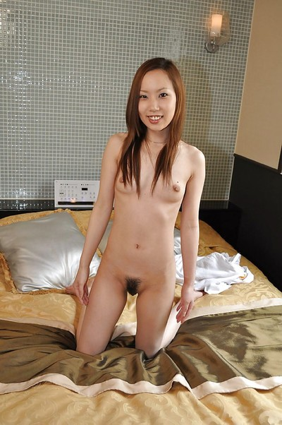 Spry oriental infant Michie Maruo has some muff vibing joy exactly after shower-room