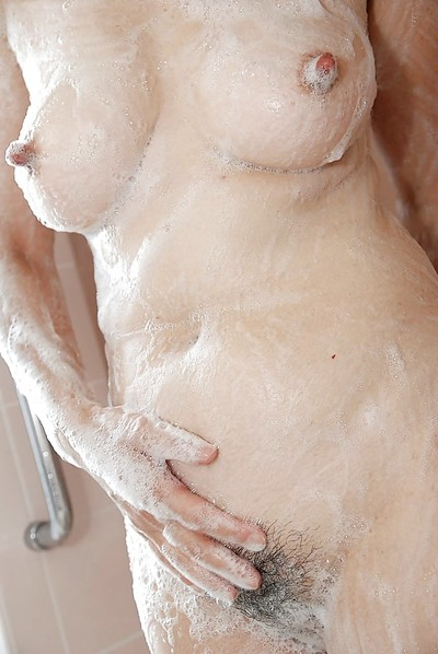 Japanese MILF Kimie Kuwata divulges her goods in close up despite the fact heavenly bathroom