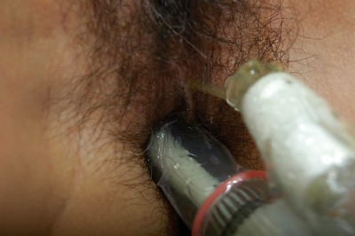 Hungry calm Chinese cutie gains her hairy gash cheerful with various marital-aids