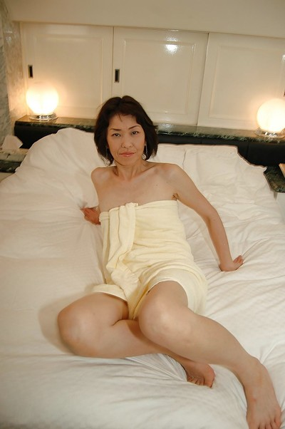 Concupiscent oriental MILF has some love-cage toying joy right after baths
