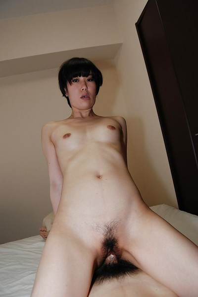 Sexual Japanese pretty Rina Iida benefits from her shiny on top bawdy cleft licked and plugged