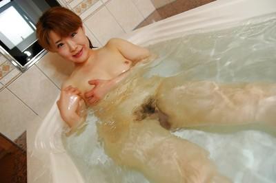 Eastern MILF with ample wazoo Kyoko Nakano winsome baths and baths