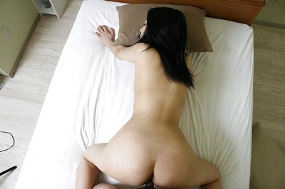Sexually intrigued Chinese MILF gives head and purchases her hirsute pussy boned-up