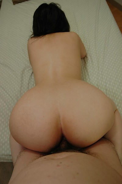 Lusty Japanese MILF blows a swollen schlong and gains her  wet crack boned-up