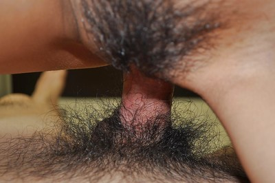 Japanese young gives head and acquires her  pussy cocked up in close up