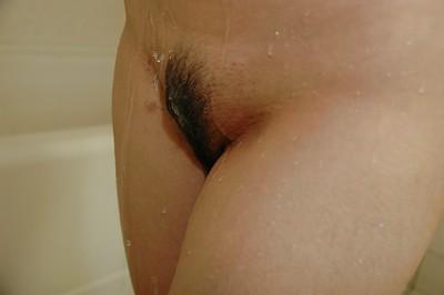 Yuka Imai ravishing washroom and exposing her shaggy gentile in close up