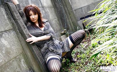 Chinese gal Reina Mizuki showcasing her miniature fanny and  twat