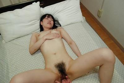 Lusty Chinese queen attains her  muff cocked up and creampied