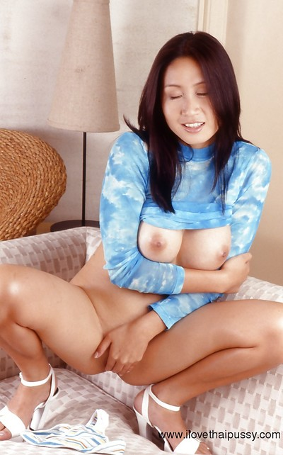 Playing with dick activity discloses  bawdy cleft and enormous bumpers of an Chinese cutie