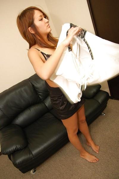Japanese adolescent Yuka Kanazawa receives undressed and has some rug munch and vibing liking