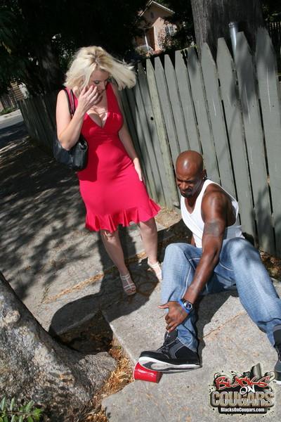 Interracial of age lovemaking