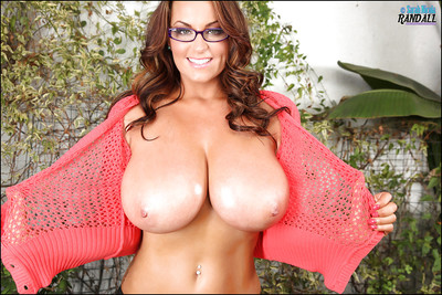 Geeky Sarah Nicola Randall shows gone their way outstanding boobies doused