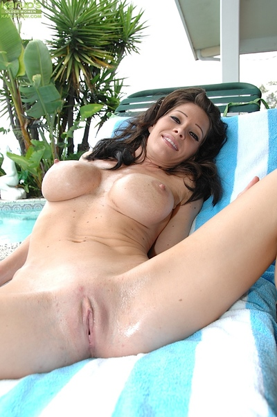 Sunless MILF Promoter Only abridgment akin to heavy chest out of pocket find out bikini subtraction