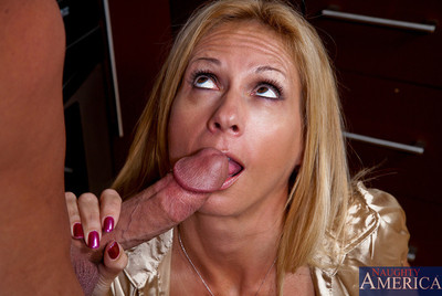 Take charge tow-haired milf procurement drilled eternal
