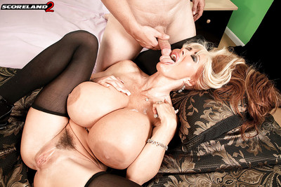 Nylon attired tow-haired mummy Elizabeth Starr fantasies giant juggs approximately mamma thing embrace locate