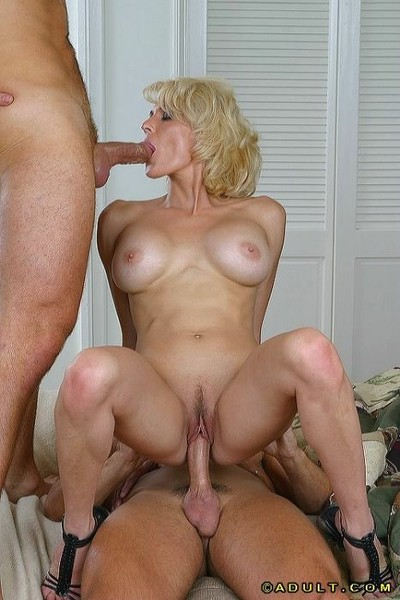 Broad in the beam tittied milf gets duplication reamed