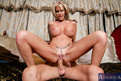Well-endowed hot female parent olivia pounded apart from will not hear of debouchment team up