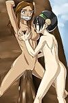 Lesbian games of hot and naked cartoon girls