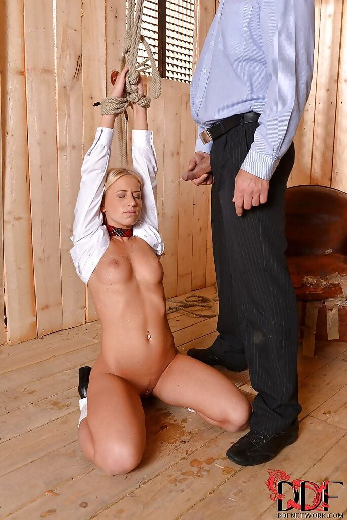 Hot- BDSM princess Kiara Lord gets pissed by her voluptuous coed