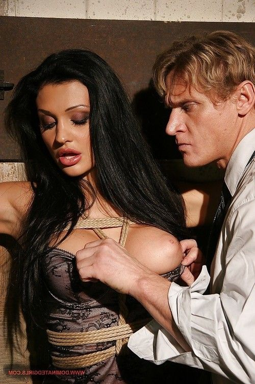 Busty babe Aletta Ocean ready for a rough BDSM games with toys