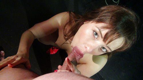 European femdom pornstar Taissa Shanti taking cumshot on cunt after handjob