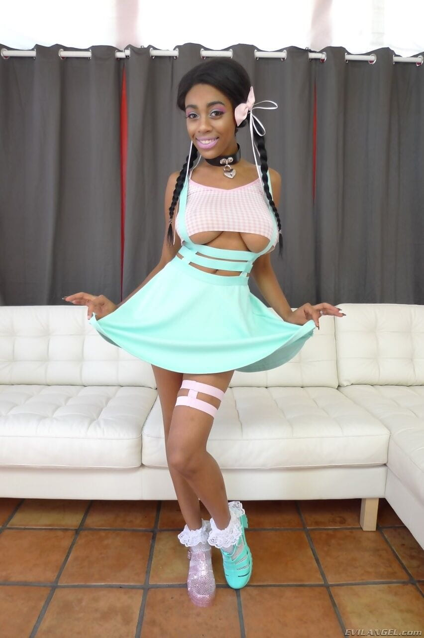 Busty ebony model Brittney White gets fucked and jizzed by Bryan Gozzling