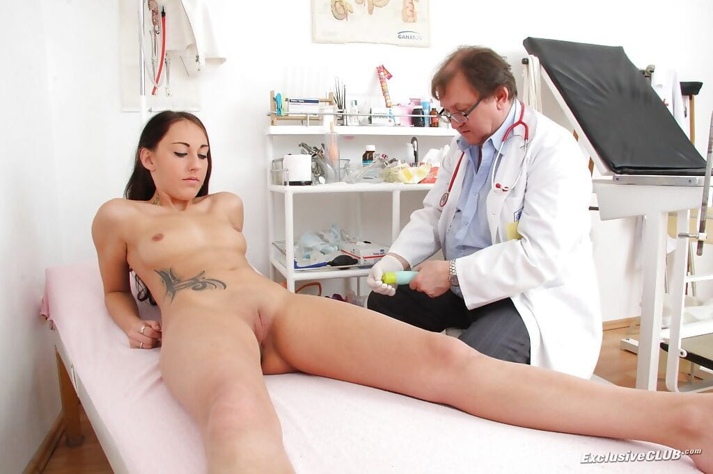 Gracious kitten Ell Storm has another appointment at gynos office