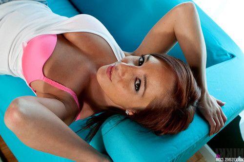 Stunning brunette chick Nikki teases while wearing sexy underwear