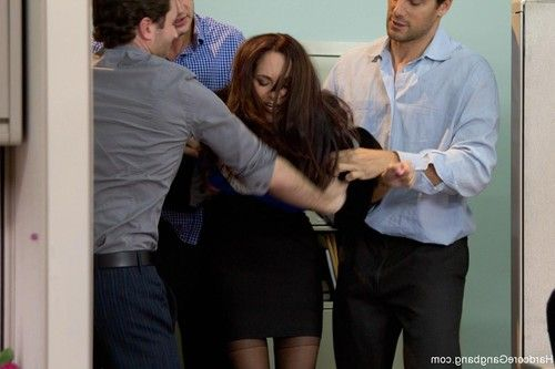 Milf with a huge tits gangbanged by coworkers
