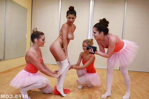 Petite ballerinasf at lesbian party