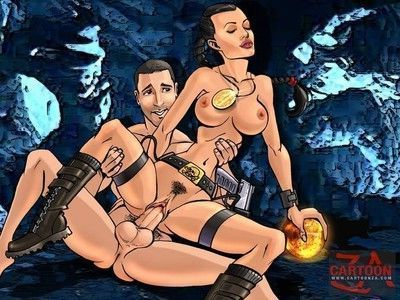 Hot fucking action by sexy cartoon characters