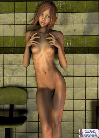3d toon with pointy tits
