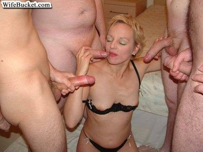 Slutty mature amateurs with cocks in their mouths