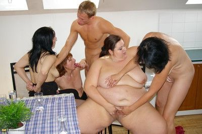 One dude fucking all chubby cockhungry housewives