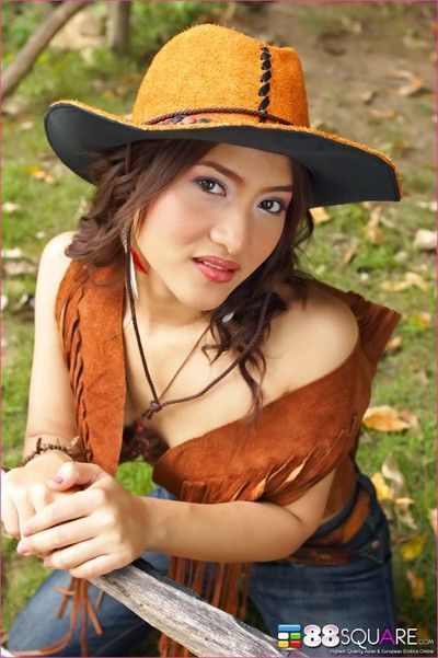 Asian cowgirl milk gets nude