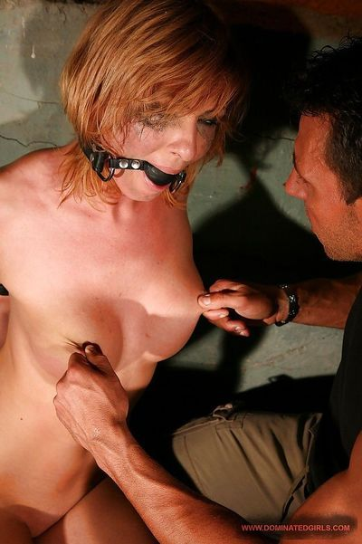Big titted tied up Gabriella May gets her cunt licked and BDSM fucked