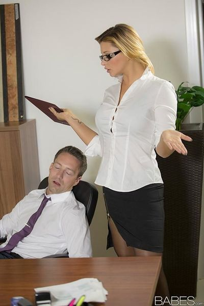Stunning office babe Anna Polina has her wet pussy pounded hard