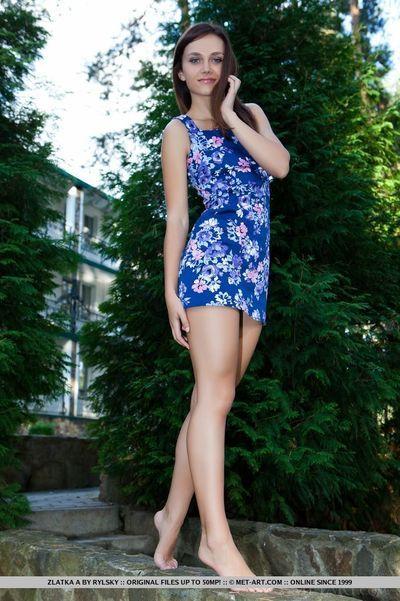 Irresistible Euro babe Zlatka A enjoys showing off her tight body