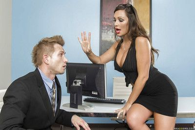 Office milf with big tits Destiny Dixon takes part in a reality fuck scene