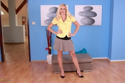 Blonde housewife getting very naughty
