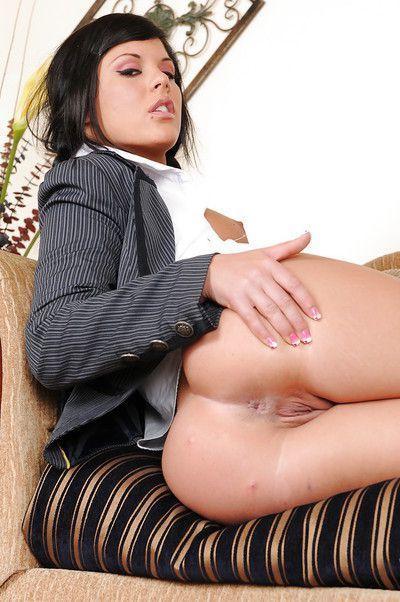 Beautiful brunette pornstar Madison Parker earns her pay in gangbang scene