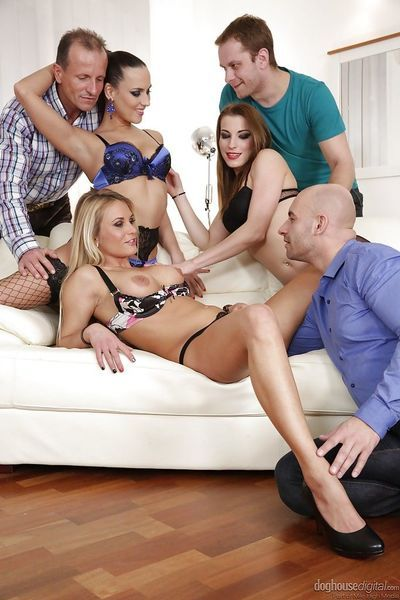 Nice groupsex compliments of Mea Melone- Victoria Daniels and Laura Crystal