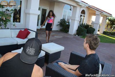 Ebony babe september reign pounded by two white dudes