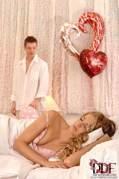 Blonde European wife Cayenne Klein taking hardcore sex from big cock